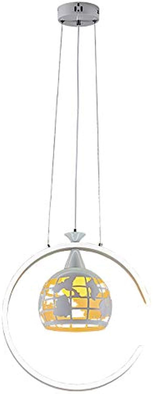 Modern LED Dimmbar Pendelleuchte Pendellampe Ring Erde Modellieren Design Hngelampe Küchenlampe Esszimmerlampe Esstisch Büro Wohnzimmer Flur Hngeleuchte Hnge Kronleuchter Hhenverstellbar