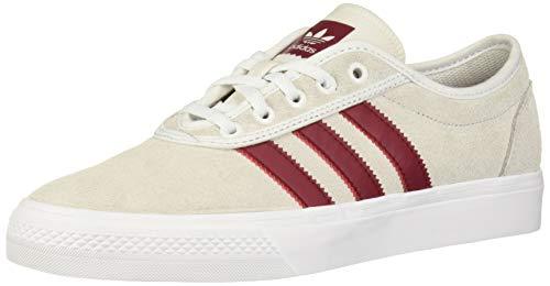 adidas Originals Adiease Sneaker, Crystal White/Collegiate Burgundy/White, 8.5 M US