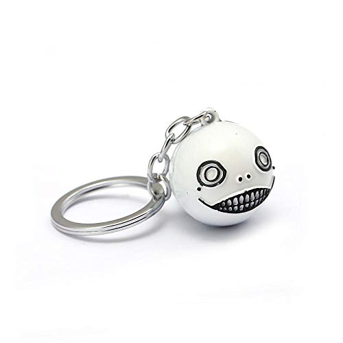 Robot 2B Emil No2 Keychain For Game NieR Automata Fans Keyring Big Face Ball Cosplay Jewelry Gift