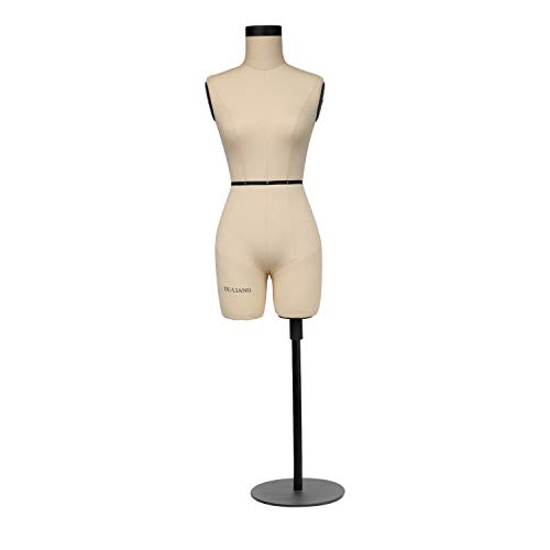 DE-LIANG Half Scale Dress Form Fiberglass Sewing 1/2 Miniature Fitting Mannequin Not Fully Pinable Dressmaker Dummy 43cm Body Height Female Torso Tailor Model for Draping (Size:Not Adult Full Size)