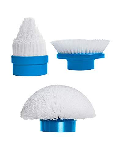 test Media Shop White / Blue Hurricane Spin Scrubber Replacement Brush Set 3 Deutschland