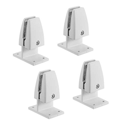uxcell Partition Bracket - Office Desk Partition Clip Clamp Holder Screen Support T Shape for 4-15mm Thickness, 4 Pcs