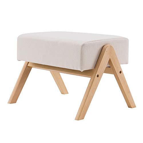 Waful (50x25x40cm) Footrest Stool, Rocking Chair, Footrest Stool, Nordic A-Type Beige