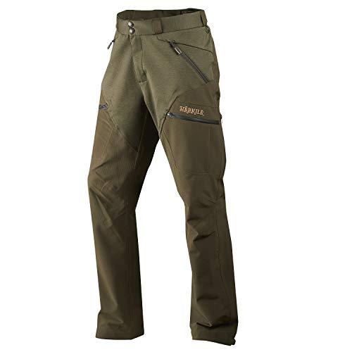 Härkila Pantalones de caza impermeables para hombre Agnar Hybrid – Pantalones de caza de piratas transpirables y silenciosos con ArcStretch (TM) y ranuras de ventilación Willow Green 52