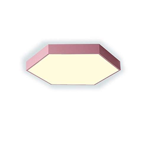 EGGofry LED-plafondlamp voor binnen, persoonlijkheid, eenvoudige kamer, kleine plafondlamp, 30 x 30 x 5 cm, 18 W, roze