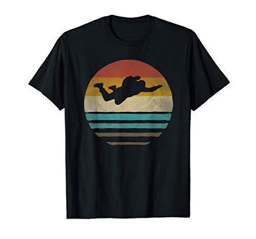 Parachuting Sport Retro Vintage Sunset Old School Funny Gift T-Shirt