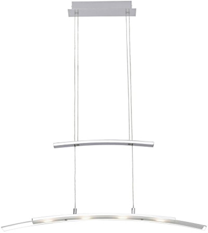 Brilliant Bernadette LED Pendelleuchte Balken 4 flg 80cm hhenverstellbar chrom wei Glas 1200 Lumen, LED integriert