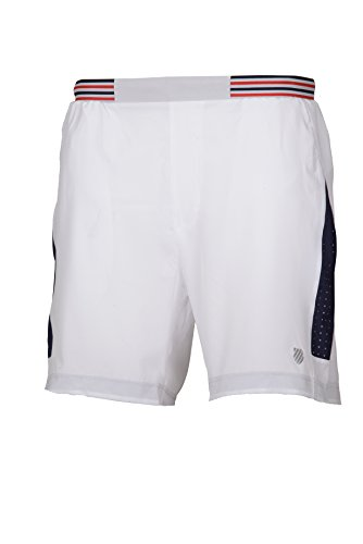 K-Swiss Heritage 8`` Pantalon de Tenis, Hombre, Blanco, S