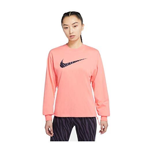 Nike Sudadera de mujer con cuello redondo Icon Clash Rosa Cód. DC5294-693 rosa/negro XS