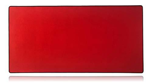 Mega Size Gaming Mouse Pad - Anti Slip Rubber Base - Stitched Edges - Large Desk Mat - 48' x 24' x 0.16' (Mega, All Red)
