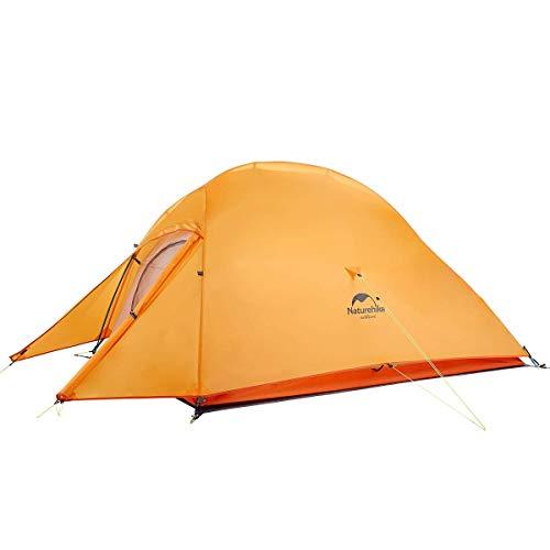 Naturehike テント 2人用 アウトドア 二重層 超軽量 防風防水 PU3000/4000 キャンピング プロフェッショナルテント CloudUp2アップグレード版(専用グランドシート付)