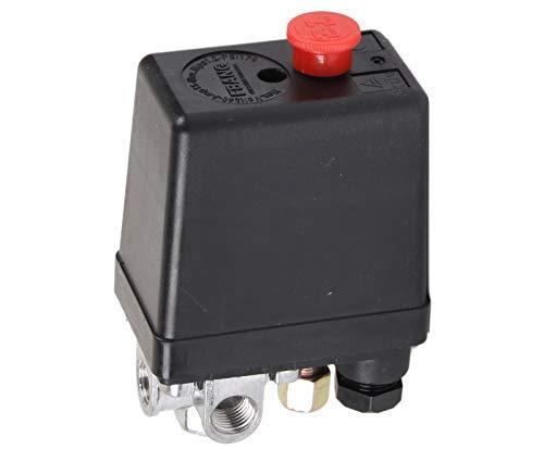 WELDINGER 4-Wege Druckschalter 5 bar/ 8-10 bar für Flüster Kompressor pro bis 340 l