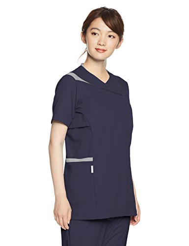 [アシックス] レディス スクラブ 白衣?CHM354 CHM354 レディース ネイビー×グレー(CHM354-0940) 日本 S (日本サイズS相当)