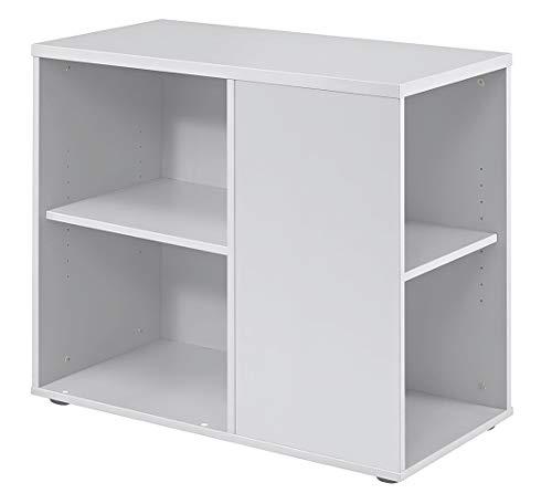 DR-Büro Anstellcontainer - li/re montierbar - Beistellcontainer neben dem Schreibtisch - 5 Farben, Farbe:Weiss