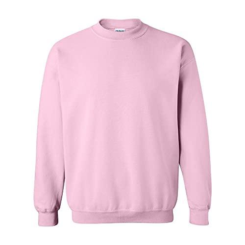 Gildan Herren 50/50 Adult Crewneck Sweat Sweatshirt, Pink (Light Pink Light Pink), M