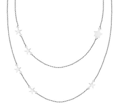 SOFIA MILANI Collar Mujer Cadena Colgante Estrella Plata de Ley 50276