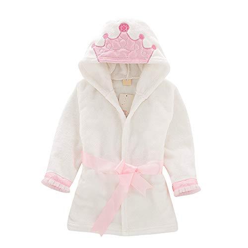 IEUUMLER baby jongens & meisjes unisex badjas flanel fleece met capuchon badjas overalls slaap wear IE132