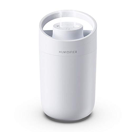 JHSHELF Humidifiers for Bedroom, 3L Cool Mist Humidifier Portable USB Personal Desktop Humidifier for Home Office, 2 Spray Modes, Up to 3 Hours