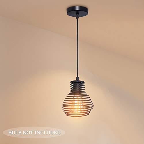 Vintage Deckenleuchte Pendelleuchten Industrial Hänge Deckenlampe Kronleuchter Hängeleuchte Lampenschirm mit E27 Fassung.