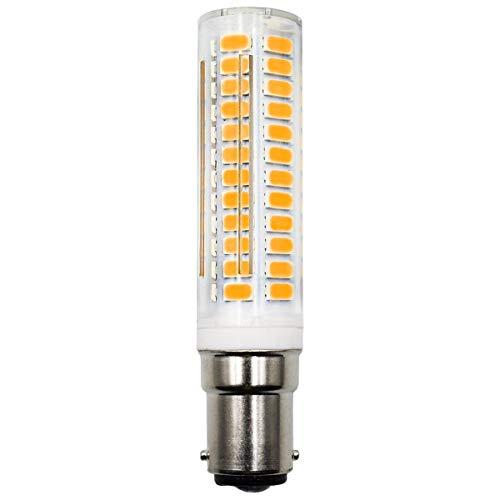 Bombilla LED B15D regulable, luz blanca cálida, 3000 K, 6 W, 60 W, repuesto de 230 V, bayoneta pequeña, para máquina de coser, bombilla de ventilador de techo (1 unidad)