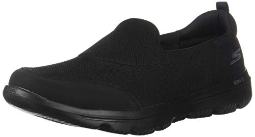 Skechers Women's GO WALK EVOLUTION ULTRA-REACH Slip On Trainers, Black Textile/Trim BBK), 5 UK, (38 EU)