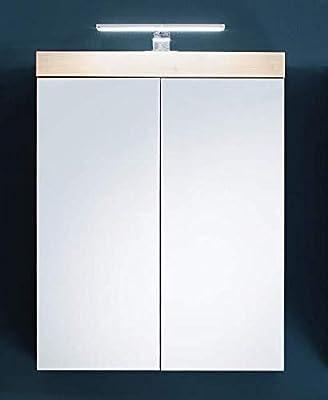 Planetmöbel Spiegelschrank Badezimmer mit LED Beleuchtung 60 ...