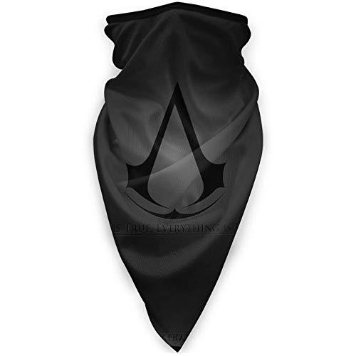 Assassin's Creed Logo(2) Face Mask Bandana Long Mask Windproof Sports Mask Outdoor Motorcycle Cycling Hiking Sports Activity Supplies Black