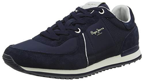 Pepe Jeans London Tinker City Zapatillas para Hombre , Azul ( 595NAVY ) , 43 EU