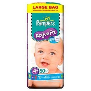 Pampers Active Fit Size 4+ Large Pack x 50 per pack