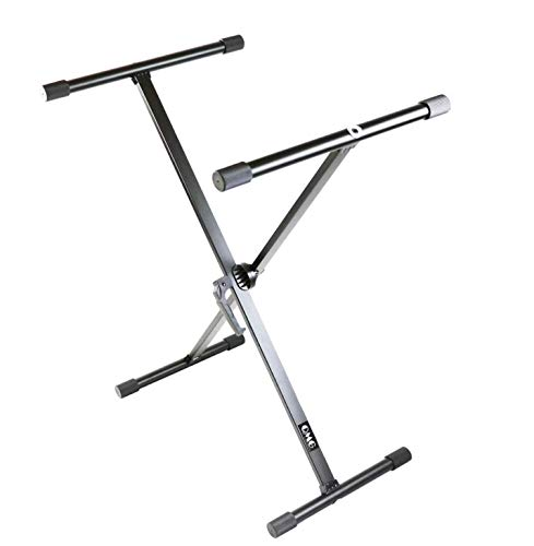 QMG Piano Keyboard Stand – Single X, Semi-Assembled, Infinitely Adjustable, Heavy-Duty, the Perfect Stand for your Piano Keyboard