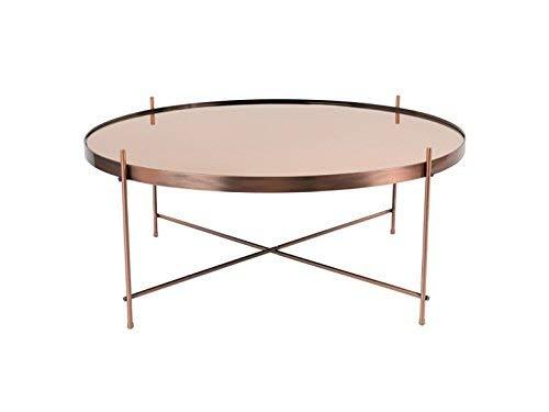 Zuiver Cupid XXL Beistelltisch Copper, Glas, 82,5x82,5x35 cm