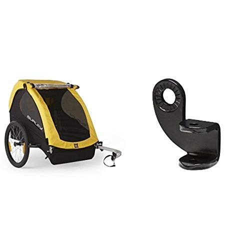 Great Deal! Burley Design Bee Bike Trailer, Yellow and Burley Design 12.2MM Steel Hitch Bundle