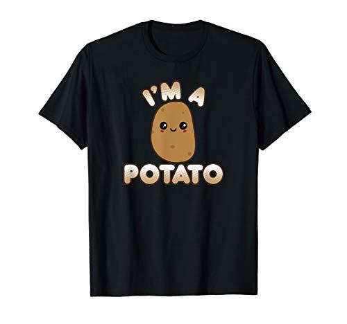 Funny Potato Costume Cute Kawaii Style Smiling I'm A Potato T-Shirt