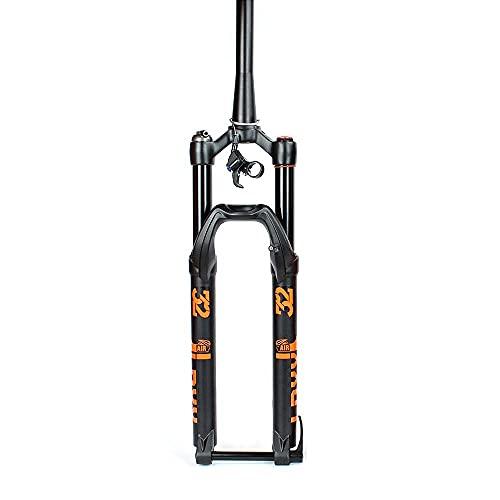 YMSHD Horquilla de Bicicleta Horquilla de Resorte de Bicicleta Horquilla de Bicicleta Horquilla de suspensión Horquilla 27.5 29 Pulgadas Air Blast 100 * 15 mm Eje de Barril Freno de Disco de