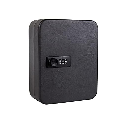 Caja de almacenamiento para llaves, gabinete de seguridad, caja de almacenamiento con código montado en la pared para hogares, hoteles, escuelas, negocios