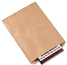 A1BakerySupplies® Premium Quality Kraft Paper Bags Flat Merchandise Bags Made in USA 100pack - (6 x 9 in) Plain Bags