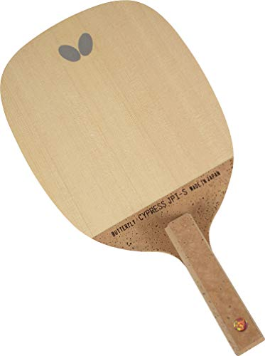 Butterfly Cypress JP I-S Table Tennis Blade - Kiso Hinoki 1-Ply Blade - Cypress JP I-S Blade - Perfect for Traditional Japanese Penhold Backhand Style - Made in Japan