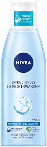 NIVEA Erfrischendes Gesichtswasser für normale und Mischhaut (200 ml), Gesichtstoner belebt & erfrischt die Haut, mildes Gesichtswasser spendet intensive Feuchtigkeit
