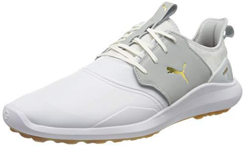 PUMA Jungen Ignite Nxt Crafted Golfschuh, White-High Rise Team Gold, 35.5 EU
