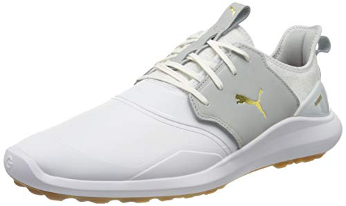 PUMA Jungen Ignite Nxt Crafted Golfschuh, White-High Rise Team Gold, 35.5 EU