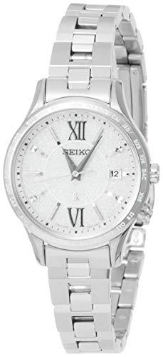 [セイコーウォッチ] 腕時計 ルキア ソーラー電波 フローズンホワイト文字盤 SSVV035 レディース シルバー
