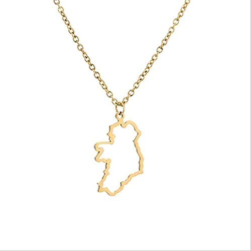 NONGYEYH co.,ltd Necklace Necklace Contour Country State of Texas Africa Israel Australia France Syria Ireland Jamaica Barbados Nigeria Puerto Rico World Map Necklace