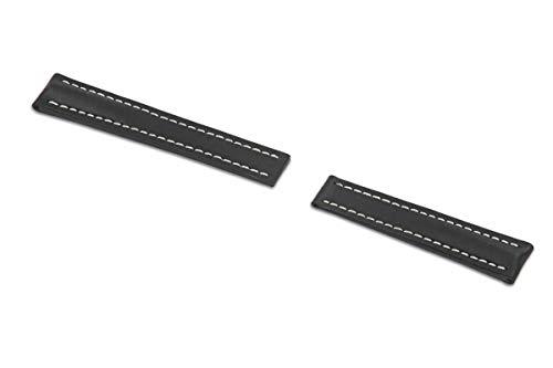 RIOS1931 Pilot 311 - Correa para reloj de pulsera para hombre (piel de yute, ancho 22 mm, longitud 110/90 mm), color negro