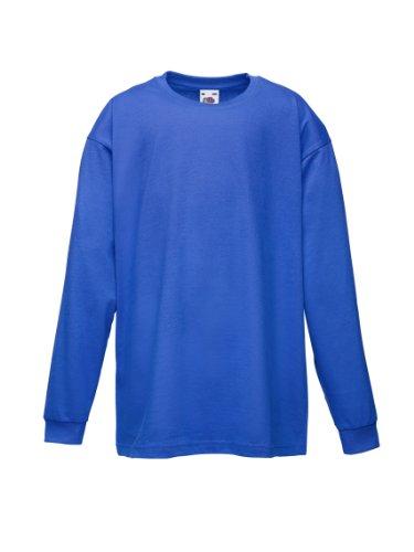 Fruit of the Loom - Camiseta de manga larga para niños, azul, talla 7-8 años