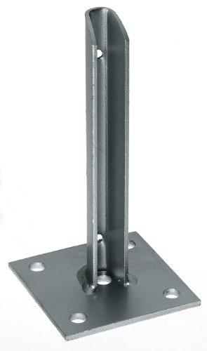 GAH-Alberts 658649 Pfostenträger, für verkürzte Zaunpfosten, feuerverzinkt, 100 x 100 x 200 mm, für Posten Ø38 mm