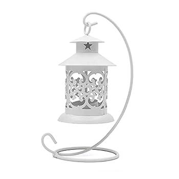 Fashion Simply Chandelier Chandelier Vintage métal Lanterns Chandelier Multi Fonction Handly Candlelight Candélabre Blanc