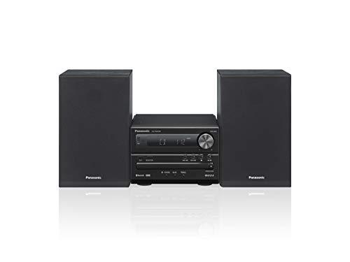 Panasonic SC-PM250BEGK Mikro-HiFi-System mit 2 Kanälen, digitales DAB+-Radio, CD-Player, Bluetooth, USB, hohe Audio-Qualität, satte Bässe und klarer Klang, kompaktes und Elegantes Design, Schwarz