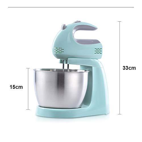 BUTTERFLYSILK 2 in 1 Elektromixer, Hand und Standmixer, Küchenmaschine, 3L 150W 5 Geschwindigkeitsstufen, inkl. 2 Schneebesen, 2 Knethaken, Schneebesen Maschine - 5