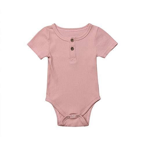 Bodys Manga Corto para Bebes niño, Body sin Mangas Recien Nacido Bodies para bebé niños niñas Pijama Algodon Tops Camiseta Mono