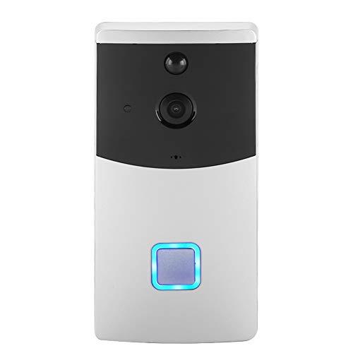 Timbre inalámbrico WiFi, con LED de ángulo de 145 °, Timbre con Anillo de videoportero Inteligente, visión Nocturna con detección de Movimiento PIR, desbloqueo por Control Remoto